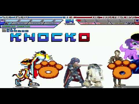 Glowrock Mugen Zoe Trent Chester Cheetah R2D2&C3PO and Lucina vs The Mugen  Archive