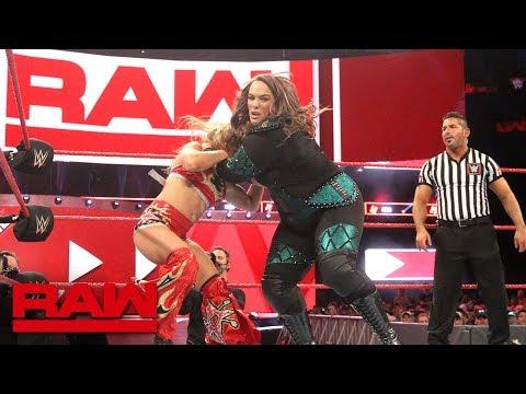 Nia Jax & Natalya vs. Alexa Bliss & Mickie James vs. Raw July 9, 2018