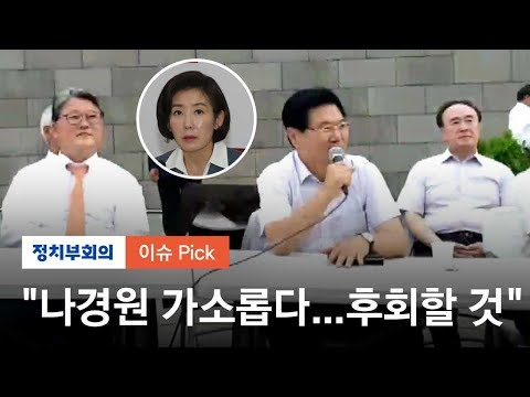 """나경원 """"우리공화당 자연스럽게 정리"""" 홍문종 """"가소롭다"""""""