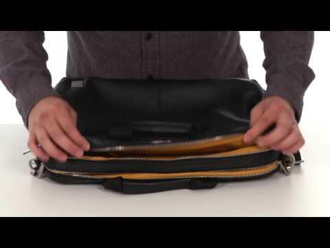 KNOMO London - Amesbury Leather Double Zip Laptop Briefcase SKU:8660185