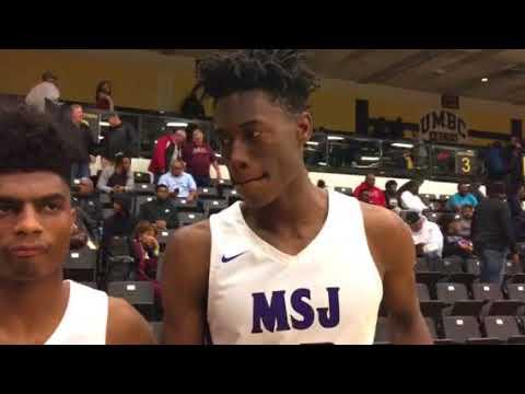 Mount St. Joseph basketball James Bishop and Jalen Smith Charm City Challenge 12-2-2017