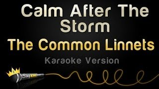 The Common Linnets - Calm After The Storm (Karaoke Version)