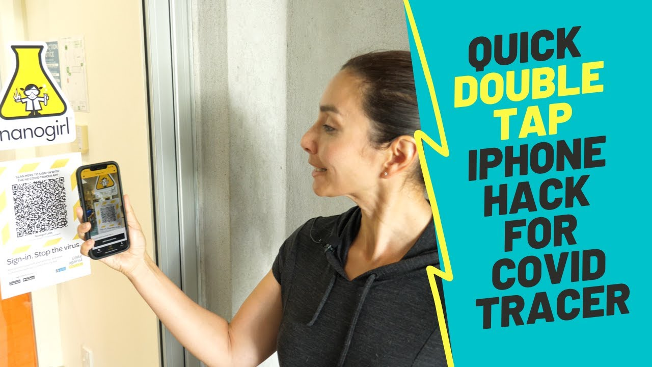 iPhone double tap hack - perfect for COVID QR code scanning