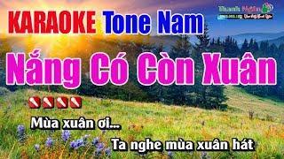 Nắng Có Còn Xuân Karaoke | Tone Nam - Nhạc Sống Thanh Ngân