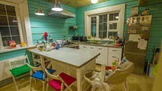 Самодельная кухня из дерева. Кухня своими руками из шпунтованной доски.