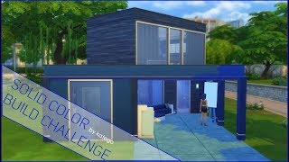 The Sims 4: Строительство [Solid Color Build Challenge. Самый синий дом]