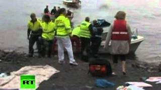 Masacre en Noruega. Operación de rescate
