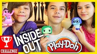 INSIDE OUT PLAY DOH CHALLENGE!  |  KITTIESMAMA