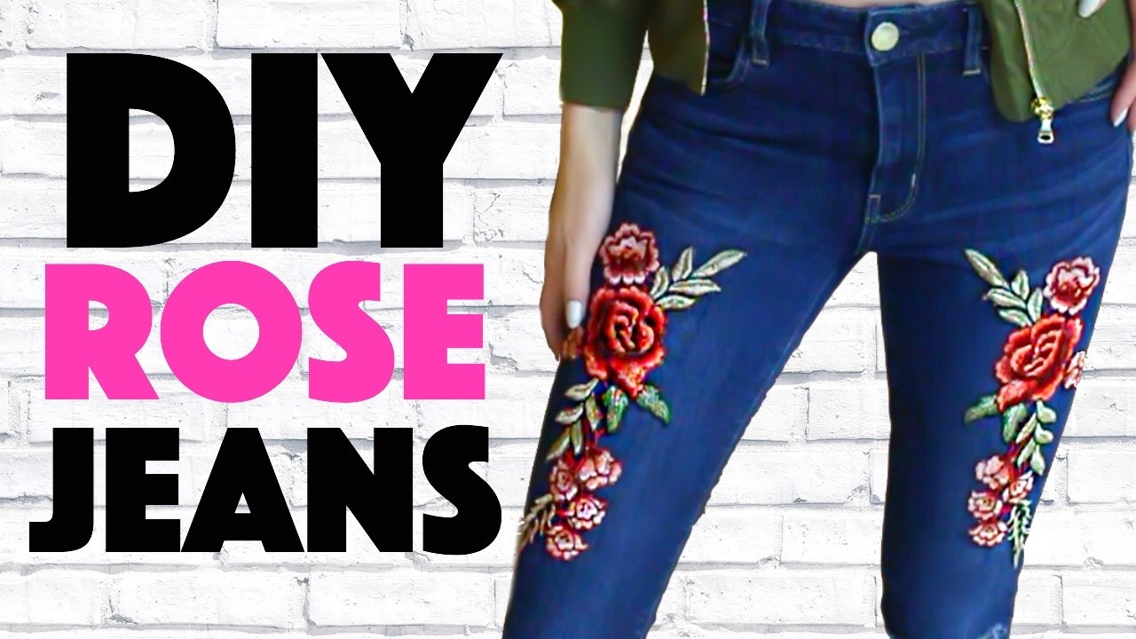 Diy embroidered jeans youtube diy embroidered jeans ccuart Gallery