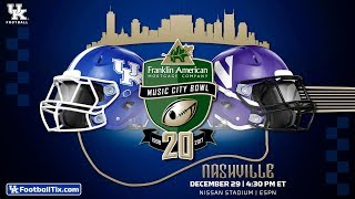 Music City Bowl Kentucky Wildcats vs. Northwestern Wildcats Simulation