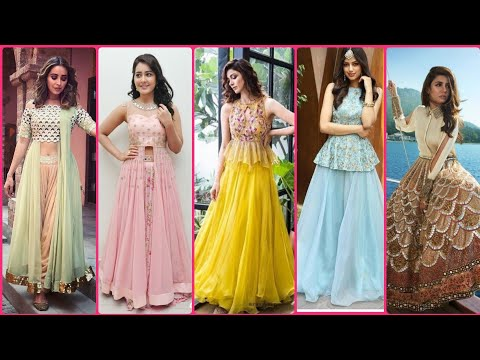 New Indo Western Dresses for Girls 2021   Latest Trending Dresses for Dulhan / Bridesmaid  