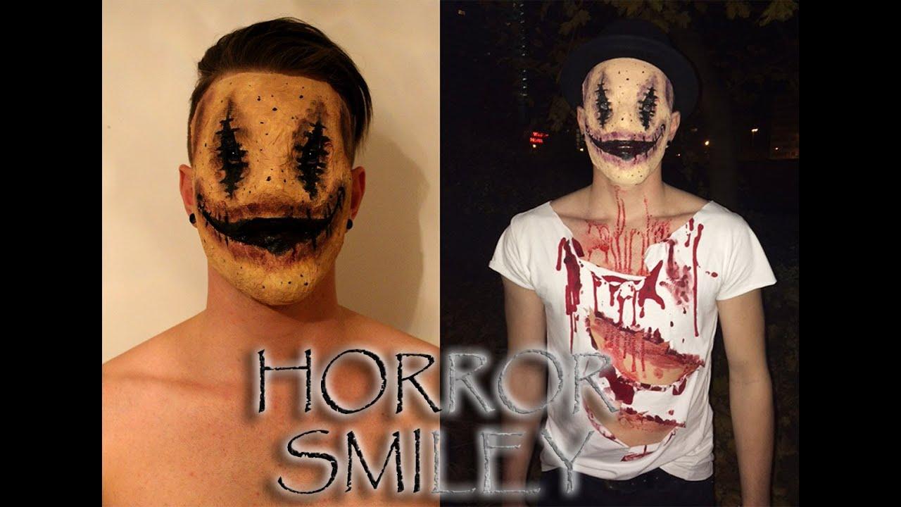 how to make a creepy smile