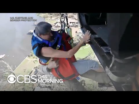 Rescue crews airlift people stranded after Hurricane Michael