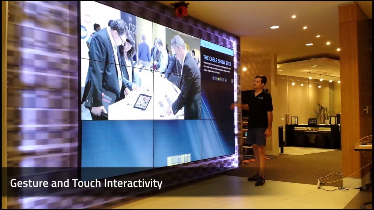 See Ncta S All New Interactive Digital Wall Youtube