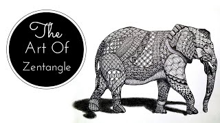 The Art Of Zentangle | How To Draw an Elephant