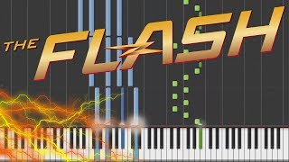 The Flash - Main Theme Piano Tutorial [100% Speed]