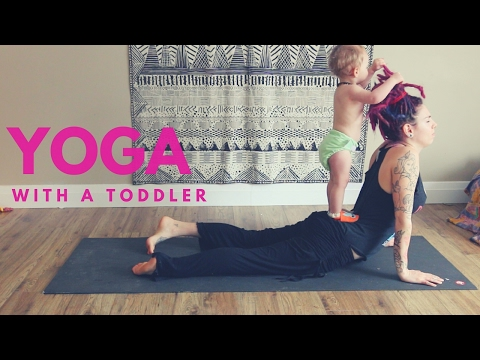Mom Attempts Yoga With Toddler