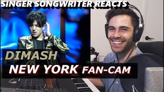 Dimash in NEW YORK   Know / Ascolta La Voce   Singer Songwriter Reacts   Barclays Center USA FANCAM