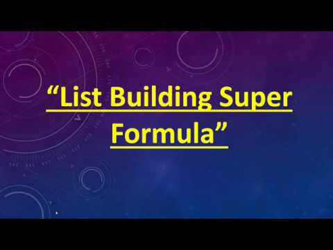How to start List building join this training webinar replay with Andy Brocklehurst and Richie Nolan