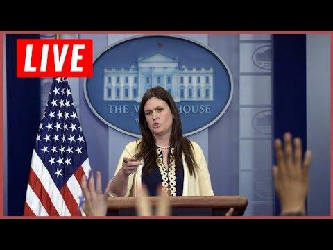 LIVE Press Secretary Sarah Huckabee Sanders White House Briefing LIVE Stream 10/10/17