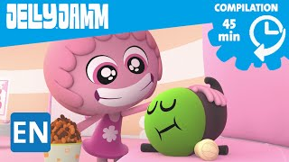 Jelly Jamm. Episode Compilation (45 min): The Dodos. Cartoons in English for kids.