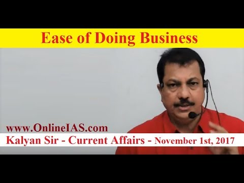 Ease of Doing Business - OnlineIAS.com - November 1, 2017