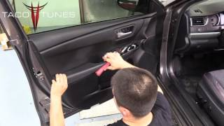 Toyota Camry - How to remove front door panel & front door speakers.
