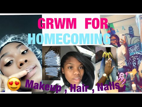 GRWM FOR HOMECOMING || SOPHOMORE YEAR|| #2k18 👑
