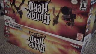 Guitar Hero: World Tour Full Band (Wii) Unboxing