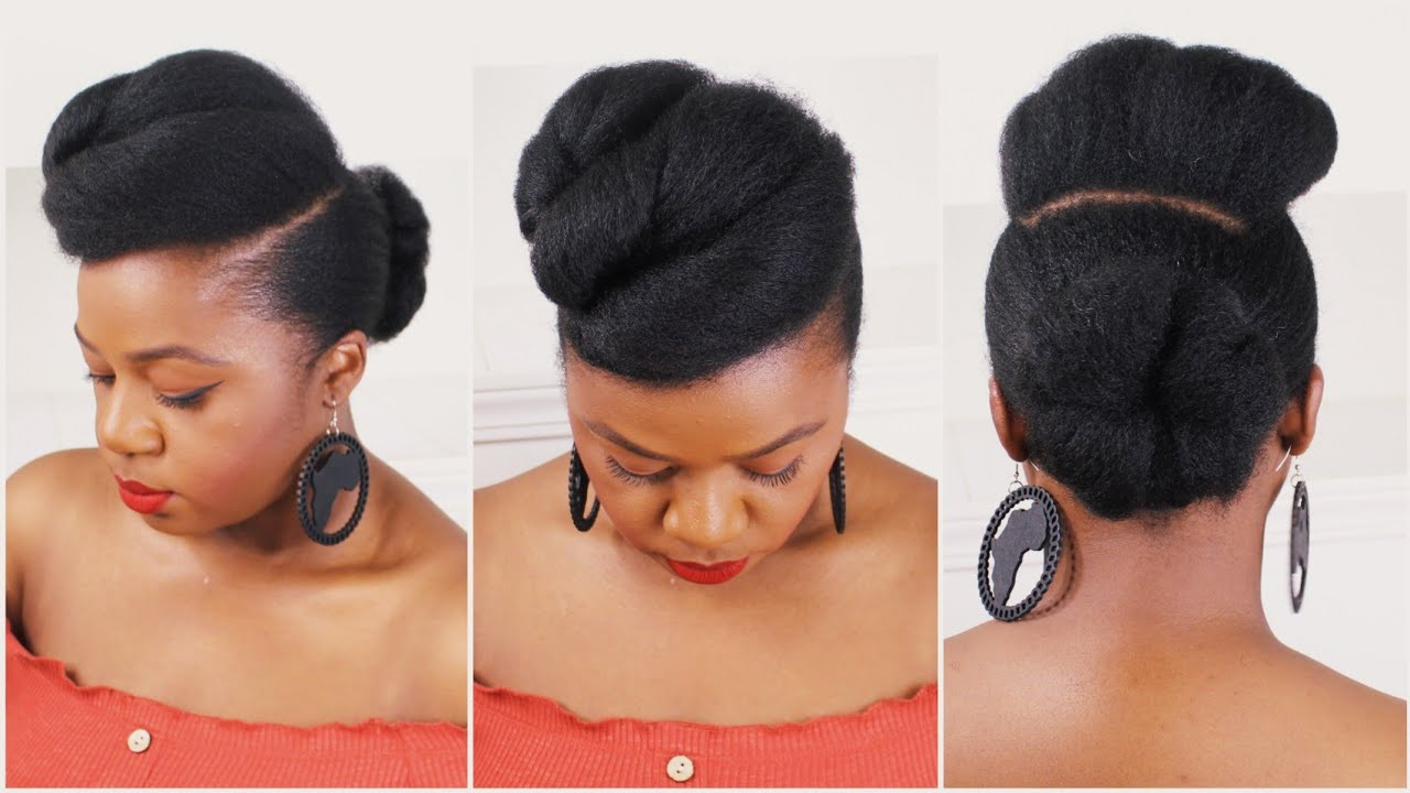 Simple & easy natural hairstyles on natural hair