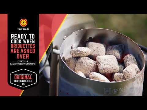6  Heat Beads   How To Cook A Turkey In A Kettle BBQ   150318