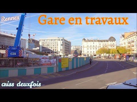 Construction ; Station ; Place de la Gare en Travaux ; Rennes ; Bretagne ; France