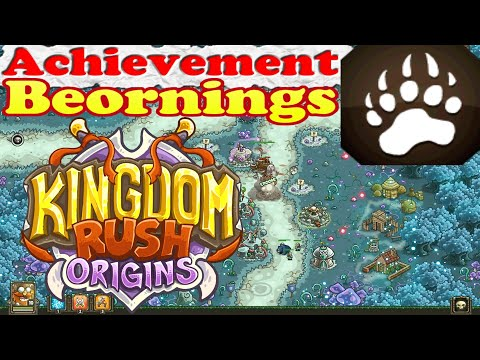 Kingdom Rush Origins - Achievement Beornings - Have 8 or more Runed Bears in any single stage |