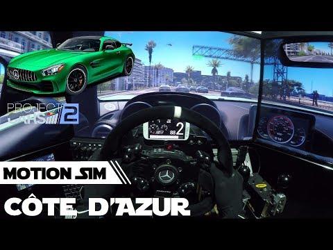 AMG GTR @ Côte d'Azur - Project Cars 2 [MotionSIM Onboard]