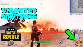 How To Get UNLIMITED Air Strikes In Fortnite.. (Fortnite Season 9) *Get Air Strikes In Creative*