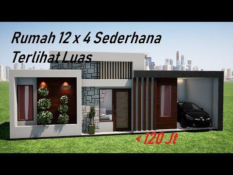 ep 29 inspirasi desain rumah minimalis 12x4 meter rumah