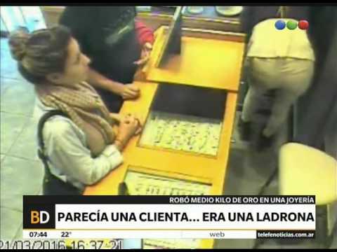Increíble robo en una joyería - Telefe Noticias