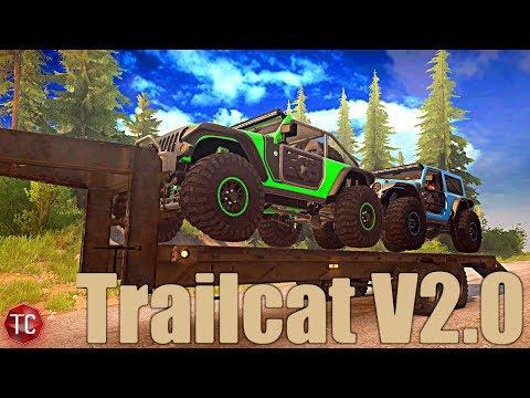 SpinTires MudRunner: NEW Jeep Trailcat V2.0! (New Parts, DEMON ENGINE SOUND, & MORE!)