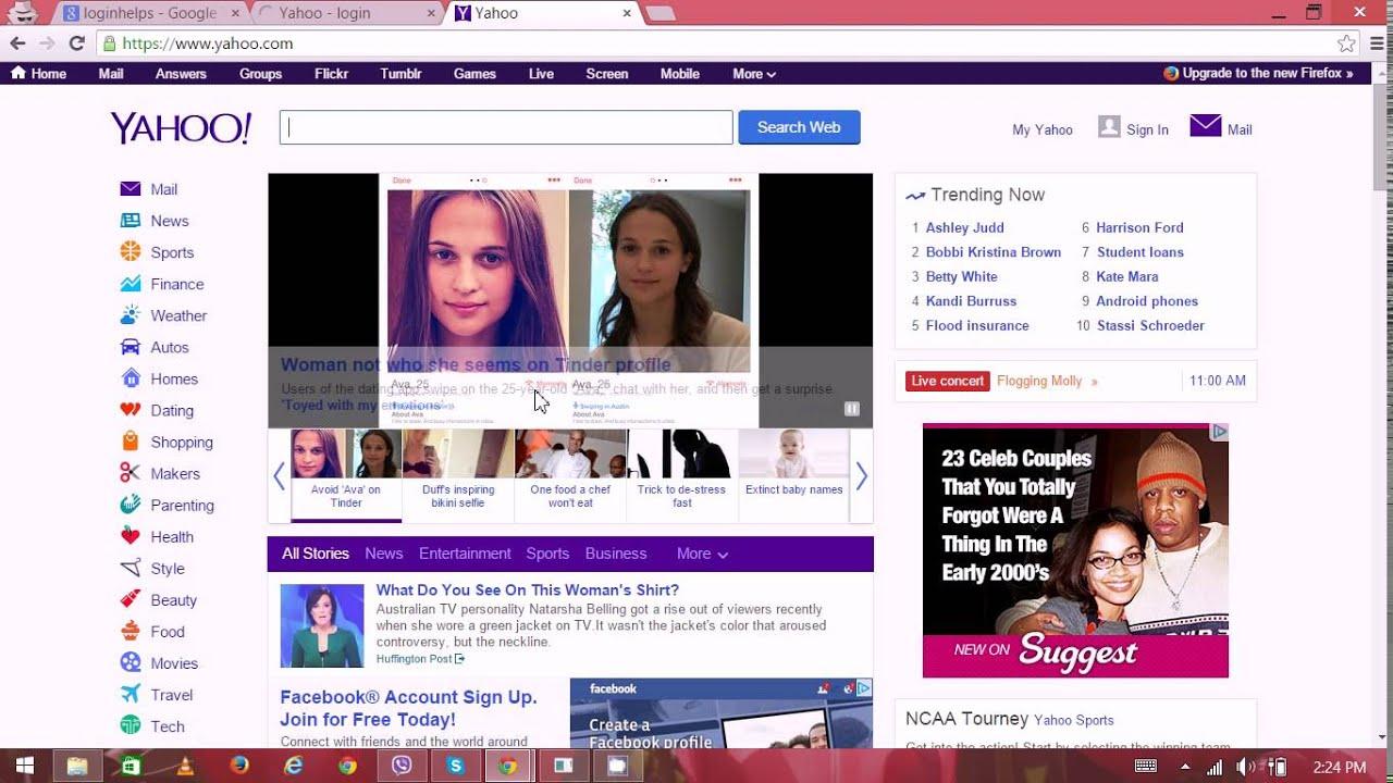 Yahoo Com Home Page Yahoo Mail Yahoo Mail Login Youtube