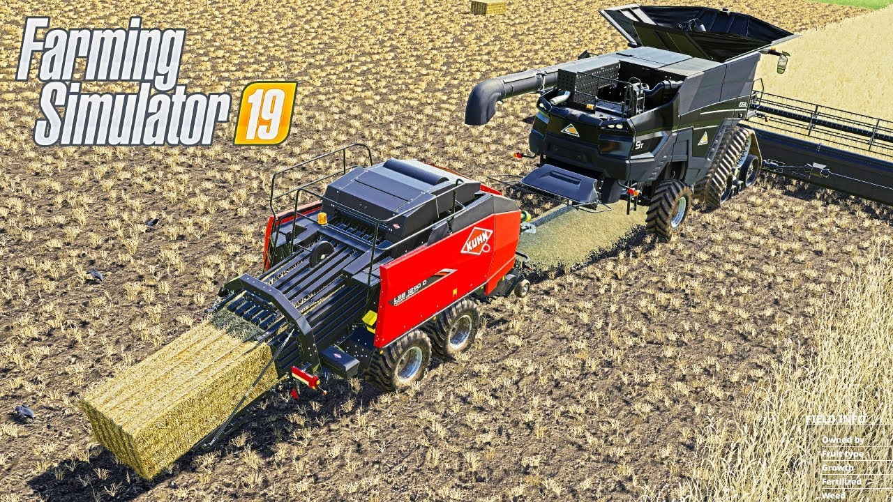 Farming Simulator 19 - 2 in 1 Harvester and Baler | FS19 Mods - Ai Cave