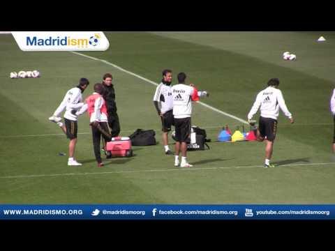 Real Madrid Training Session before Sporting de Gijón Liga Match