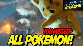 ALL POKEMON IN DETECTIVE PIKACHU TRAILER! YOU MIGHT HAVE MISSED SOME!