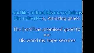 KARAOKE   Chris Tomlin - Amazing Grace (My Chains are Gone) ORIGINAL KEY