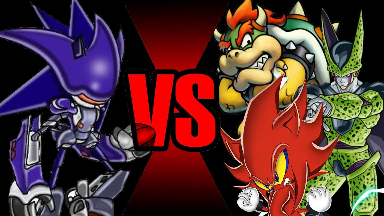 Mecha Sonic vs Bowser & Perfect Cell & Perfect Nazo (The epic rematch)