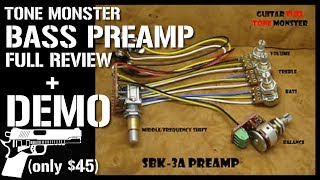 [SCHEMATICS_48EU]  Tone Monster SBK-3A Bass Preamp FULL REVIEW + DEMO (only $45) - YouTube | Blackout Pre Amp Wiring |  | YouTube