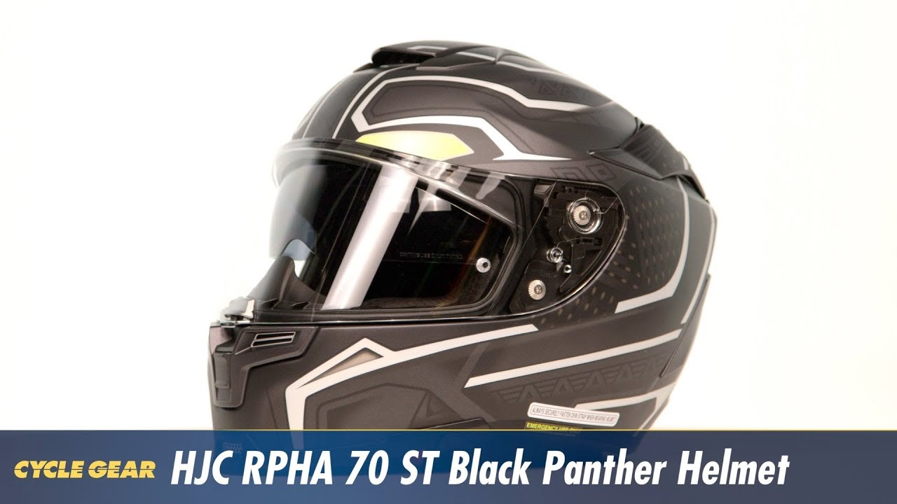 0f3a27b3 HJC RPHA 70 ST Black Panther Helmet at CycleGear.com. Cycle Gear