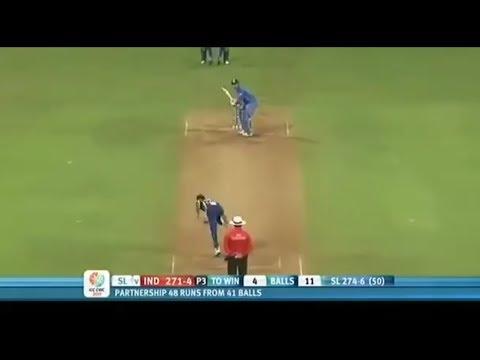 MS Dhoni 91 in World Cup Final 2011  India vs Sri Lanka World Cup 2011