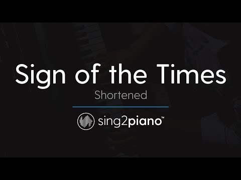 Sign of the Times (Shortened) [Piano Karaoke Instrumental] Harry Styles