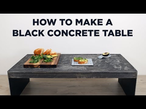 Concrete and Steel Table Stained Black