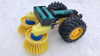 How to Make Snow Cleaning Machine - Homemade Electric Robot